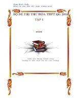 Bộ đề thi thử Hóa học THPT Quốc gia 2016 Tập 1