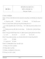 Đề KT HK1 sinh học 10   đề số 4
