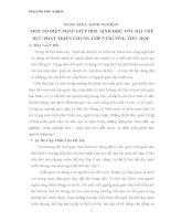SÁNG KIẾN KINH NGHIỆM   MỘT SỐ BIỆN PHÁP GIÚP HỌC SINH HỌC TỐT BÀI THỂ DỤC PHÁT TRIỂN CHUNG LỚP 5 TRƯỜNG TIỂU HỌC