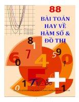 88 bài TOÁN HAY về hàm số và đồ THỊ