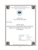 Phân tích báo cáo tài chính hợp nhất năm 2014 công ty cổ phần sữa Việt Nam Vinamilk