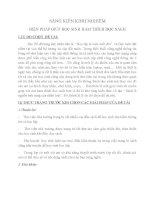 SÁNG KIẾN KINH NGHIỆM BIỆN PHÁP GIÚP HỌC SINH HAM THÍCH ĐỌC SÁCH