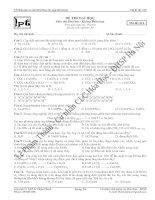Tổng hợp đề thi thử đại học khối A, B môn hóa học năm 2013 (Phần 5)