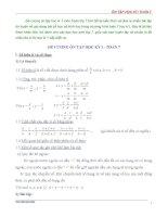 ĐỀ CƯƠNG ôn tập học kỳ i   TOÁN 7