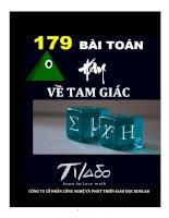 179 bài TOÁN HAY về TAM GIÁC
