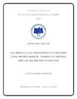 Tác động của các thành phần của thuế đến tăng trưởng kinh tế   nghiên cứu trường hợp các địa phương ở việt nam