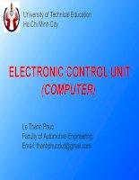 ELECTRONIC CONTROL UNIT(COMPUTER)
