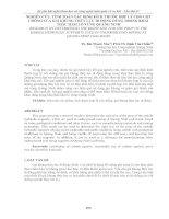 NGHIÊN cứu, TÍNH TOÁN xác ĐỊNH KÍCH THƯỚC hợp lý CHO cột CHỐNG của GIÁ KHUNG THỦY lực DI ĐỘNG DÙNG TRONG KHAI THÁC hầm lò VÙNG QUẢNG NINH