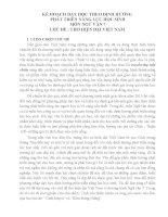 KẾ HOẠCH DẠY HỌC THEO ĐỊNH HƯỚNG  PHÁT TRIỂN NĂNG LỰC HỌC SINH MÔN NGỮ VĂN 7 CHỦ ĐỀ : THƠ HIỆN ĐẠI VIỆT NAM