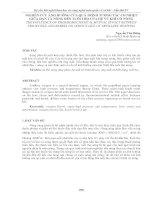 NGHIÊN cứu ẢNH HƯỞNG của QUÁ TRÌNH TƯƠNG tác cơ NHIỆT GIỮA đạn và NÒNG đến TUỔI THỌ của hệ vũ KHÍ có NÒNG