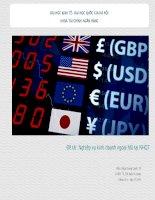 Thuyết trình nghiệp vụ kinh doanh ngoại hối tại ngân hàng quốc tế