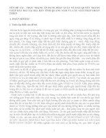 THỰC TRẠNG ÁP DỤNG PHÁP LUẬT VỀ GIẢI QUYẾT TRANH CHẤP ĐẤT ĐAI TẠI ĐỊA BÀN TỈNH QUẢNG NAM VÀ CÁC GIẢI PHÁP HOÀN THIỆN