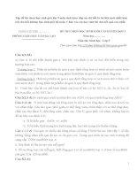Tập đề thi chọn học sinh giỏi lớp 9 môn sinh kèm đáp án chi tiết