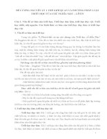 ĐỀ CƯƠNG NGUYÊN lý 1 THẾ GIỚI QUAN và PHƯƠNG PHÁP LUẬN TRIẾT học của CHỦ NGHĨA mác – LÊNIN