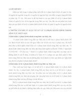 NHỮNG VẤN ĐỀ LÝ LUẬN VỀ XỬ LÝ VI PHẠM HÀNH CHÍNH TRONG LĨNH VỰC THỦY SẢN