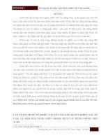 Bài tập học kỳ môn Luật hành chính Việt Nam module