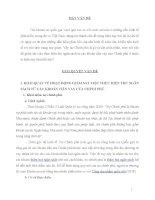 KHÁI QUÁT VỀ HOẠT ĐỘNG GIÁM SÁT VIỆC THỰC HIỆN THU NGÂN SÁCH TỪ CÁC KHOẢN TIỀN VAY CỦA CHÍNH PHỦ