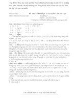 Tập đề thi chọn học sinh giỏi lớp 9 môn hóa học kèm đáp án chi tiết