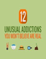 12 unusual addictions you wont believe are real