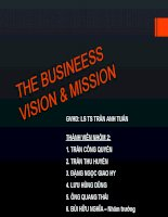 The busineess vision and mission