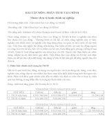 Tiểu luận môn phân tích tài chính Đối tượng phân tích Viện khoa học lao động và xã hội
