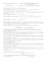 Đề thi môn toán khối B năm 2013 chính thức của bộ GD&ĐT