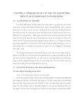 Bài giảng Chương 1: Tổng quan về các yếu tố ảnh hưởng đến tỷ suất sinh lợi của Ngân hàng