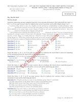 Đáp án đề thi tốt nghiệp môn anh năm 2013 mã đề 913
