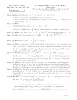 Tổng hợp đề thi thử đại học môn toán của các trường năm 2016