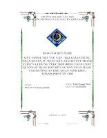 Báo cáo rèn nghề chuyên ngành Quản lý đất đai