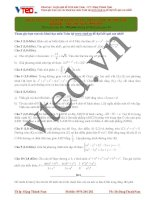 Khóa luyện giải đề năm 2016 môn toán thầy Đặng Thành Nam Đề số 7