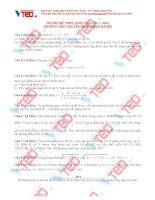 Đề thi thử Môn Toán THPT Quốc gia lần 12016 của trường THPT Chuyên Sư phạm Hà Nội