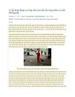 Tả lại hình dáng và công việc của một chị công nhân vệ sinh đường phố