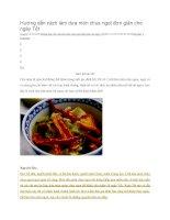 Hướng dẫn cách làm dưa món chua ngọt đơn giản cho ngày tết