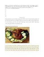 Mẹo giúp khử mùi hôi của các loại thịt hiệu quả đơn giản
