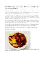 Chế độ ăn uống khôn ngoan đối với người bệnh đái tháo đường ngày tết