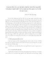 ẢNH HƯỞNG CỦA TỰ DO HÓA TRONG THƯƠNG MẠI ĐỐI VỚI PHÁT TRIỂN BỀN VỮNG MÔI TRƯỜNG BIỂN VÀ NƯỚC Ở VIỆT NAM