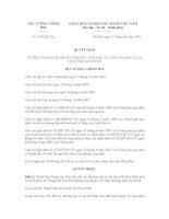 Quyết định thành lập trung tâm xúc tiến đầu tư thương mại tỉnh Hòa Bình số 258QĐTTg