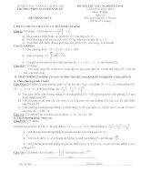 Tổng hợp đề thi thử tốt nghiệp môn toán năm 2013 (Phần 9)