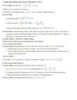 Tổng hợp đề thi thử tốt nghiệp môn toán năm 2013 (Phần 12)