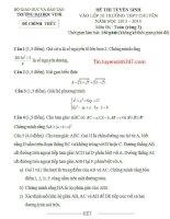 Đáp án đề thi vào lớp 10 môn toán vòng 2 chuyên đại học Vinh năm 2013