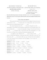 Đề thi thử THPT Quốc gia năm 2016 môn Tiếng Anh trường THPT Chuyên Đại học Sư phạm Hà Nội (lần 1)
