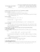 Tổng hợp đề thi thử tốt nghiệp môn toán năm 2013 (Phần 5)