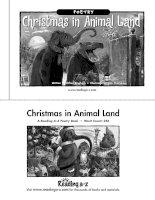 Sách tiếng Anh cho trẻ em Book 13 christmas in animal land