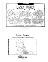 Sách tiếng Anh cho trẻ em Book 2 lotsa pasta
