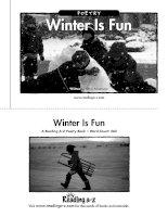 Sách tiếng Anh cho trẻ em Book 38 winter is fun