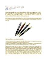 Thuyết minh về cây bút bi lớp 8
