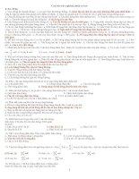 1001 câu hỏi trắc nghiệm vật lí luyện thi đại học