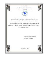 CƠ SỞ KHOA HỌC VÀ CÁC GIẢI PHÁP Y TẾ PHÒNG CHỐNG LÂY NHIỄM HIV/AIDS Ở VIỆT NAM NĂM 2012