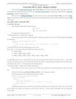 chuyên đề Các bài toán làm quen với quy hoạch động